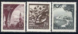 YUGOSLAVIA 1952 Navy Day.  MNH / **.  Michel 704-06 - 1945-1992 République Fédérative Populaire De Yougoslavie