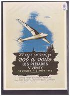 AVION - AVIATION - REPRO DE L' AFFICHE: LES PLEIADES - CAMP NATIONAL DE VOL A VOILE 1942 - CARTE NEUVE - TB - Suisse
