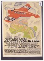AVION - AVIATION - REPRO DE L' AFFICHE: FLUGMEETING BASEL 1925 - CARTE NEUVE - TB - Suisse