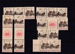 DDR, Kpl. ZD Kombinationen Der Nr 2965/66**, (W Zd 16-SZ Zd 22, Mi. 8,- Euro (T 1938) - Se-Tenant