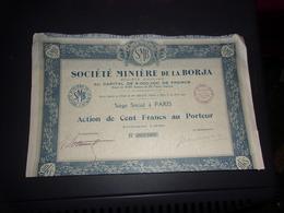 MINIERE DE LA BORJA - Shareholdings