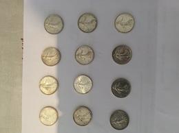 LOT 12 PIECES 5 FRANCS ARGENT - J. 5 Francs