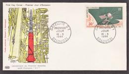 DZAOUDZI FDC Satellite D 1 Le 16/05/66 N° 17 PA ( Fusée Diamant) - Comores (1950-1975)