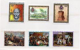 GABON / Superbe 2 Séries Sur Napoléon Bonaparte De 3 Valeurs Dentelées Chacune MNH Valeur 36.00 Euros Vente 6.00 Euros - Napoleón