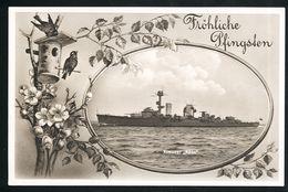 AK/CP Marine Kreuzer Köln  Reichsmarine  German Navy    Ungel/uncirc. Ca. 1932    Erhaltung/Cond.  1- / 2    Nr. 00308 - Guerra