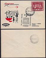 Cb0019 BELGIAN CONGO 1960, FFC  Leopoldville 1 (12B(R)) To Elisabethville 1 (13A(.U.)) - Belgisch-Kongo