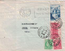PARIS TRI ET DISTRIBUTION N°16* CACHET A DATE + FLAMME - AFFRANCHISSEMENT A 23F POUR LES USA (P1). - Postmark Collection (Covers)
