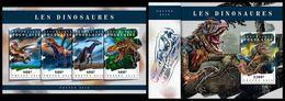 TOGO 2018 - Dinosaurs, M/S + S/S. Official Issue. - Préhistoriques