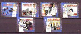 Alderney 2001, Health Care History 6v Mnh - Alderney