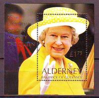 Alderney 2001, Elizabeth II 75th Birthday S/s Mnh - Alderney