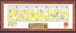 Alderney 2001, Golf Sports S/s Mnh - Alderney