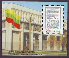 Lithuania 2000, 10 Years Independence S/s Mnh - Lithuania