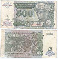Zaire 500 Zaires 1994 Pick 63.a Ref 1405 - Zaire