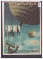 BALLON - REPRO DE L' AFFICHE: COUPE GORDON BENNETT VARSOVIE - WARSZAWA 1935  - CARTE NEUVE - TB - Montgolfières