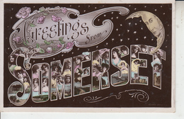 Greetings From SOMERSET ( Bath Cheddar Minehead Wells Weston )   PRIX FIXE - Angleterre