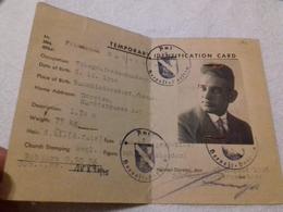 1945 Temporary Identification Card Ausweis Identity Card Id Hervest Dorsten - Documenti Storici