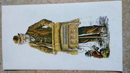 """Print Reproduction - Roy Wallace - Joueur D' Orgues De Barbarie Avec Petit Singe """"humanisé"""" - Irish Art Irlande - Lithographies"""