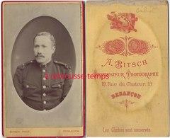 CDV Soldat Du 3e Régiment-photo Bitsch à Besançon - Guerre, Militaire