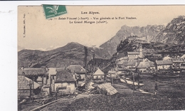 BASSES ALPES 04 SAINT VINCENT VUE GENERALE ET LE FORT VAUBAN LE GRAND MORGON BELLE CARTE RARE !!! - France