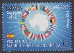 SPAIN ESPAGNE 2018 MADRID'S PROTOCOL OF THE ANTARCTICA - Sellos