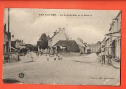 GBJ-07  Les Laumes, Grande Rue Et Le Moulin. ANIME. Circulé Sous Enveloppe En 1916 - Venarey Les Laumes