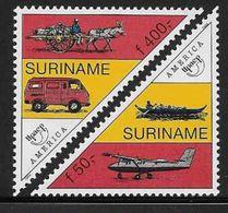 1994 SURINAM 1337-38** UPAEP, Communications, âne, Avion - Surinam