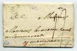 MP AIX + Marque ROUTES Au Verso / Dept 12 Bouches Du Rhone / 1772 - 1701-1800: Précurseurs XVIII