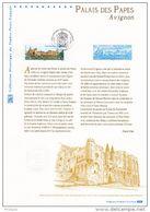 """"""" AVIGNON PALAIS DES PAPES """"  Sur Document Philatélique Officiel De 2009. N° YT 4348. Parfait état. DPO - Documentos Del Correo"""