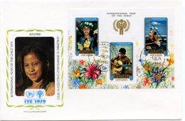 Aitutaki, 1979, International Year Of The Child, IYC, United Nations, FDC, Michel Block 26 - Aitutaki