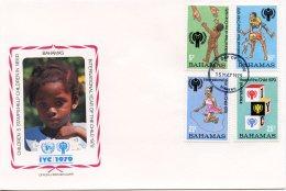 Bahamas, 1979, International Year Of The Child, IYC, United Nations, FDC, Michel 436-439A - Bahamas (1973-...)