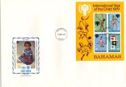 Bahamas, 1979, International Year Of The Child, IYC, United Nations, FDC, Michel Block 26 - Bahamas (1973-...)