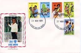 Barbados, 1979, International Year Of The Child, IYC, United Nations, FDC, Michel 489-493 - Barbades (1966-...)