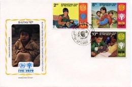 Bhutan, 1979, International Year Of The Child, IYC, United Nations, FDC, Michel 728-730A - Bhoutan