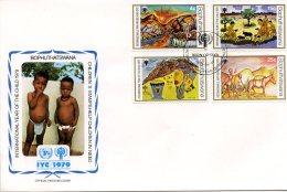 Bophuthatswana, 1979, International Year Of The Child, IYC, United Nations, FDC, Michel 43-46 - Bophuthatswana