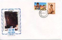 Botswana, 1979, International Year Of The Child, IYC, United Nations, FDC, Michel 237-238 - Botswana (1966-...)
