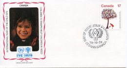 Canada, 1979, International Year Of The Child, IYC, United Nations, FDC, Michel 753 - Non Classés