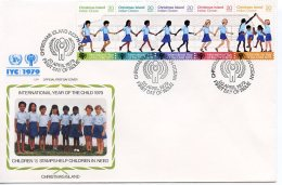 Christmas Island, 1979, International Year Of The Child, IYC, United Nations, FDC, Michel 110-114 - Christmas Island