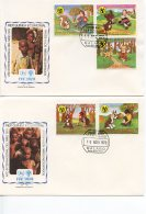 Equatorial Guinea, 1979, International Year Of The Child, IYC, United Nations, FDC, Michel 1483-1487 - Guinée Equatoriale