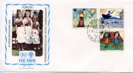 Faroe Islands, Foroyar 1979, International Year Of The Child, IYC, United Nations, FDC, Michel 45-47 - Isole Faroer