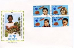 Fiji, 1979, International Year Of The Child, IYC, United Nations, FDC, Michel 416-419 - Fidji (1970-...)