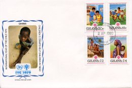 Ghana, 1979, International Year Of The Child, IYC, United Nations, FDC, Michel 805-808A - Ghana (1957-...)