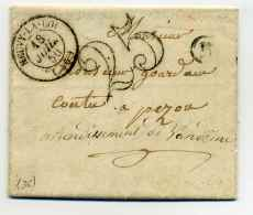 T15 NEUVY LA LOI + Boite Rurale  M Identifiée De MARAY + Taxe TDT 25c / Dept 36 Indre Et Loire / 1850 - 1849-1876: Classic Period