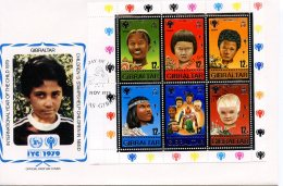 Gibraltar, 1979, International Year Of The Child, IYC, United Nations, FDC, Michel Block 6 - Gibraltar