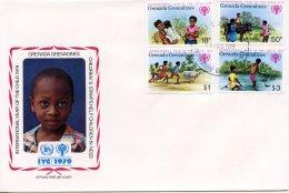 Grenada Grenadines, 1979, International Year Of The Child, IYC, United Nations, FDC, Michel 325-328 - Grenada (1974-...)