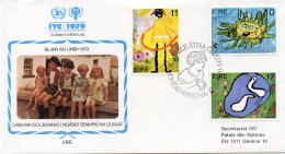 Ireland, 1979, International Year Of The Child, IYC, United Nations, FDC, Michel 401-403 - Ireland