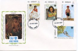 Kiribati, 1979, International Year Of The Child, IYC, United Nations, FDC, Michel 342-345 - Kiribati (1979-...)