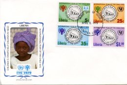 Liberia, 1979, International Year Of The Child, IYC, United Nations, FDC, Michel 1090-1093 - Liberia