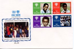 Malawi, 1979, International Year Of The Child, IYC, United Nations, FDC, Michel 328-331 - Malawi (1964-...)