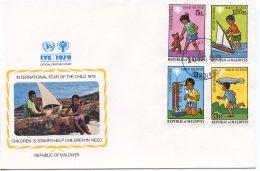 Maldives, 1979, International Year Of The Child, IYC, United Nations, FDC, Michel 822-825 - Maldives (1965-...)