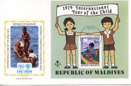 Maldives, 1979, International Year Of The Child, IYC, United Nations, FDC, Michel Block 57 - Maldive (1965-...)